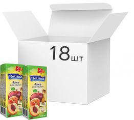 Упаковка сока Nutrino яблоко и персик 18 шт х 200 мл (8606019657673) от Rozetka
