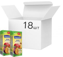Упаковка сока Nutrino яблоко и слива 18 шт х 200 мл (8606019657680) от Rozetka