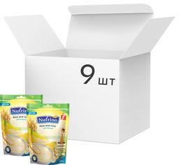 Упаковка молочной каши Nutrino Рис и кукуруза с бананом с 6 месяцев 200 г х 9 шт (8606019657611) от Rozetka