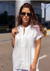 Блузы ISSA PLUS 12114  XL белый от Issaplus