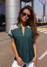 Блузы ISSA PLUS 12114  S зеленый от Issaplus
