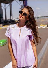 Блузы ISSA PLUS 12114  S сиреневый от Issaplus