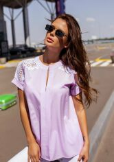 Блузы ISSA PLUS 12114  XL сиреневый от Issaplus