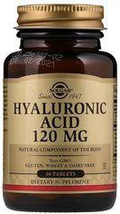 Акция на Solgar Hyaluronic Acid, 120 mg, 30 Tab Гиалуроновая кислота (SOL-01417) от Stylus