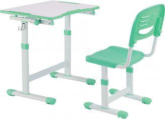 Акция на Комплект FunDesk Парта и стул-трансформеры Piccolino II Green + Настольная светодиодная лампа от Rozetka