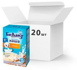 Упаковка каш сухих молочных гречневых Беллакт с 6 месяцев 20 пачек по 200 г (4810263029757_20) от Rozetka