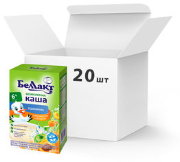 Упаковка каш сухих безмолочных пшеничных Беллакт с абрикосом и яблоком c 5 месяцев 20 пачек по 200 г (4810263029702_20) от Rozetka