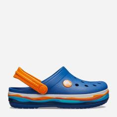 Акция на Кроксы Crocs Kids' Crocband Wavy Band Clog 205697-4GX-C6 22-23 13.2 см Синие с оранжевым (191448294653_9001053952309) от Rozetka