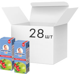 Упаковка сока Малятко Яблоко-Шиповник 200 мл х 28 шт (4820123510943) от Rozetka