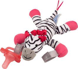Акция на Цельная силиконовая пустышка Dr. Brown's Розовая + Зебра игрушка (AC156-P6) от Rozetka