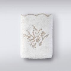 Акция на Махровое полотенце Fenix Irya ekru молочное 70х140 см от Podushka