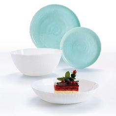 Сервиз столовый 19 предметов Ammonite Turquoise & White Luminarc P9909 от Podushka