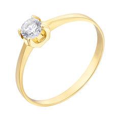 Акция на Кольцо из желтого золота Анжелика с кристаллом Swarovski 000099200 17 размера от Zlato