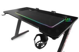 Геймерский стол Barsky E-Sports RGB-LED + Геймерская поверхность LED (BES-01/BSL-01) от Rozetka