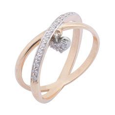 Кольцо в красном и белом золоте Признание в любви с фианитами 000059939 17 размера от Zlato