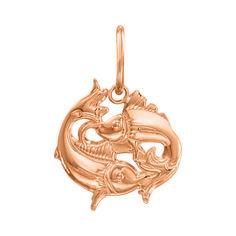 Кулон из красного золота Знак Зодиака Рыбы 000121523 от Zlato