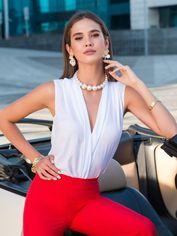 Блузка Dressa 40074 50 Белая (2000005321061) от Rozetka