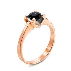 Кольцо из красного золота с сапфиром 000131165 16 размера от Zlato