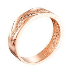Акция на Обручальное кольцо из красного золота с бриллиантами 000133119 17 размера от Zlato