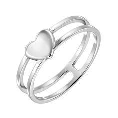 Серебряное кольцо с раздвоенной шинкой 000134035 15 размера от Zlato