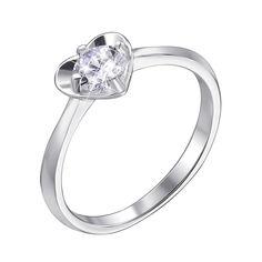 Серебряное кольцо с фианитом 000140379 16 размера от Zlato