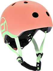 Акция на Защитный детский шлем Scoot and Ride с фонариком 45-51 см Персик (XXS/XS) (SR-181206-PEACH) от Rozetka