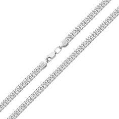 Серебряная цепь в плетении бисмарк 000117753 55 размера от Zlato