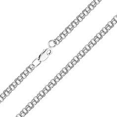 Акция на Браслет из серебра в плетении бисмарк, 3,5мм 000118123 18 размера от Zlato