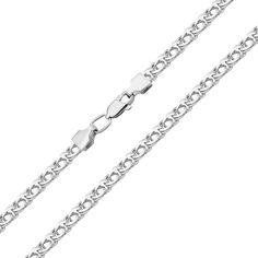 Серебряная цепочка в плетении бисмарк 000122854 50 размера от Zlato