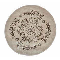 Акция на Коврик круглый для ванной Arya Luxor 1380062 коричневый  диаметр 120 см от Podushka