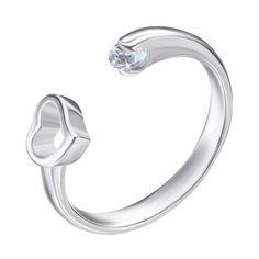 Серебряное кольцо с цирконием 000125468 б/р размера от Zlato