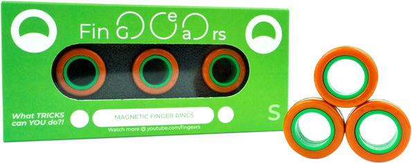 Магнитные кольца FinGears Magnetic Rings Sets Size S Orange-Green (FG380SORGR) от Rozetka