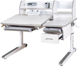 Акция на Детский стол Mealux Sherwood W/G Белый с серым (BD-830 W/G) от Rozetka