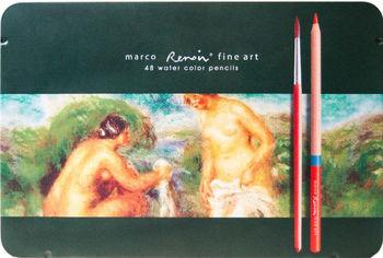 Акция на Карандаши цветные Marco Renoir AQUA 48 цвета в металлическом пенале (FineArtAQUA-48TN) от Rozetka