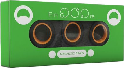 Магнитные кольца FinGears Magnetic Rings Sets Size S Black-Orange (FG380SBLKOR) от Rozetka