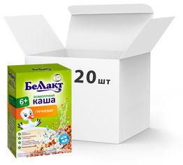 Упаковка каш сухих безмолочных гречневых Беллакт с 4 месяцев 20 пачек по 200 г (4810263029696_20) от Rozetka