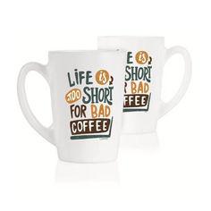 Набор кружек Luminarc New Morning Life Is Short 2х320 мл P5145 от Podushka