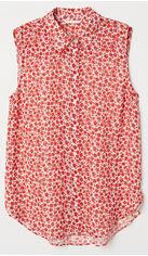 Блузка H&M 05721287 32 Красная с белым (GT02000000005735) от Rozetka