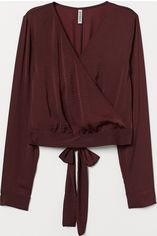 Блузка H&M 0639496 44 Бордовая (GT02000000001772) от Rozetka