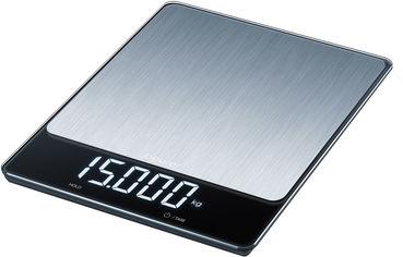 Акция на Весы кухонные BEURER KS 34 stainless steel от Rozetka