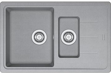 Акция на Кухонная мойка FRANKE Basis BFG 651-78 (114.0565.111) серый камень от Rozetka