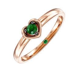 Кольцо из красного золота с изумрудом 000137334 16.5 размера от Zlato