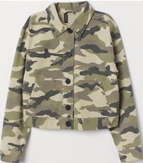 Куртка джинсовая H&M 69171594 M Хаки (PS2000000892160) от Rozetka