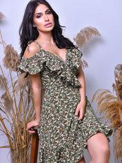 Платья Irma Style 2003 L Хаки (4821000025413) от Rozetka