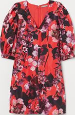 Платье H&M 81076507 34 Красное цветы (PS2030000008902) от Rozetka