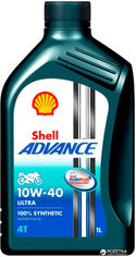 Акция на Моторное масло Shell Advance 4T Ultra 10W-40 1 л от Rozetka