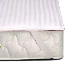 Акция на Наматрасник хлопковый с резинками по углам MirSon DeLuxe Cotton 4090 160х190 см от Podushka
