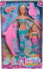 Акция на Кукольный набор Simba Steffi & Evi Love Штеффи и Эви Подруги-русалочки с дельфином и расческой (5733336) (4006592040123) от Rozetka