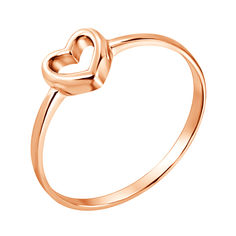 Золотое кольцо I love you с шинкой в форме сердца 000036379 16.5 размера от Zlato