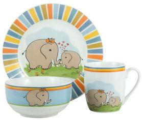 Набор детской посуды на 1 персону из 3 предметов Limited Edition Elephants (HYT17174) от Stylus